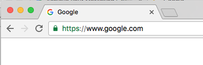 address bar secure icon