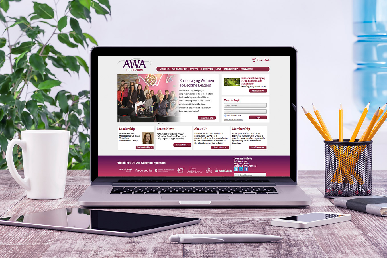 Image Of The Automotive Women's Alliance Foundation Digital Marketing Project