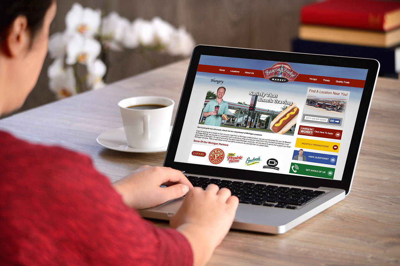 Image Of The Beacon & Bridge Food Mart Digital Marketing Project
