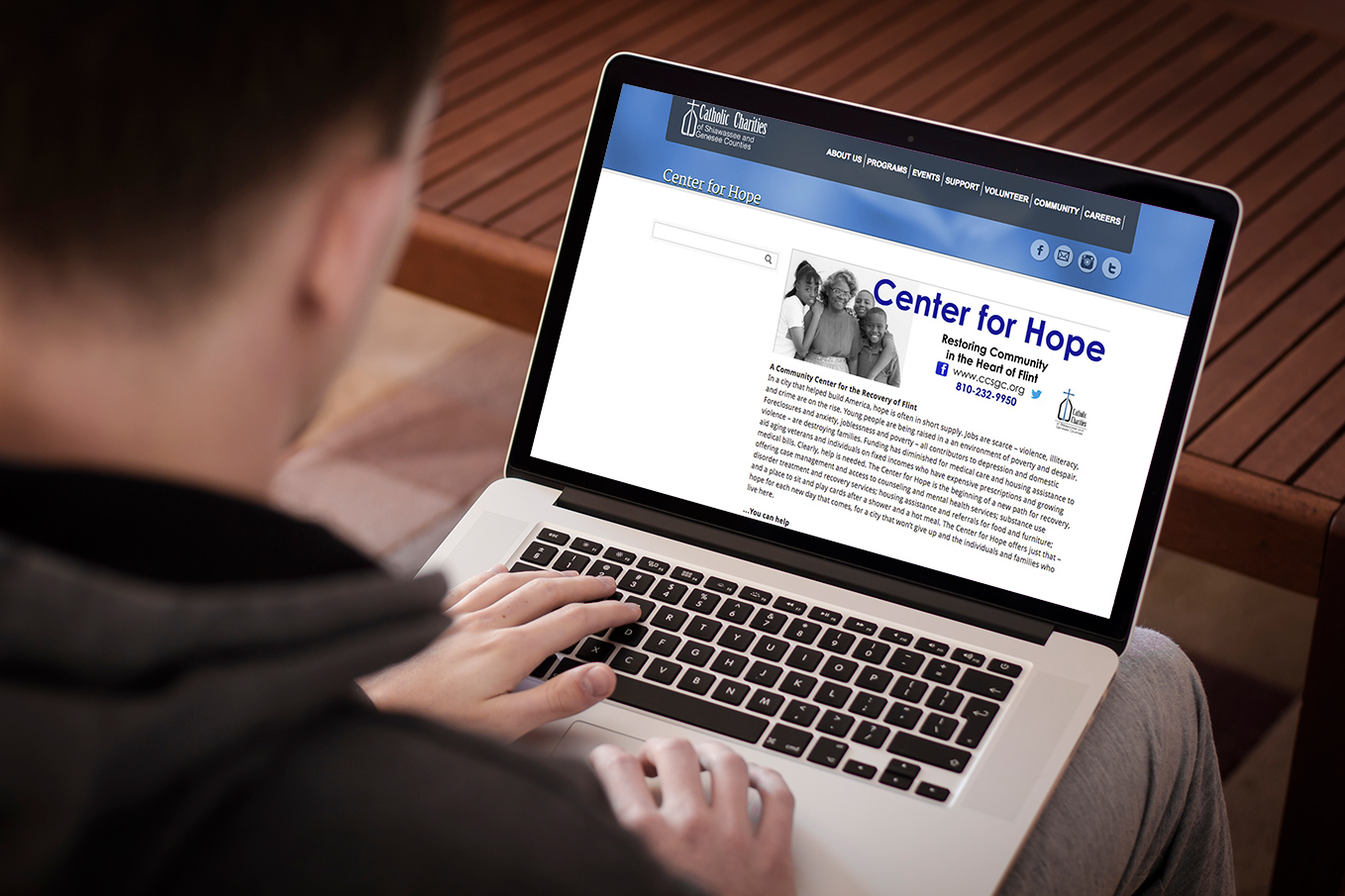 Image Of The Catholic Charities Digital Marketing Project